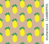 illustration of pineapple on... | Shutterstock .eps vector #1168809931