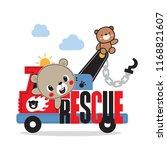 cute teddy bear cartoon driving ... | Shutterstock .eps vector #1168821607