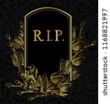 rest in peace vector gold black ... | Shutterstock .eps vector #1168821997