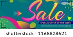 geometry style sale banner... | Shutterstock .eps vector #1168828621