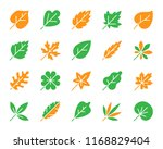 organic leaf silhouette icons... | Shutterstock .eps vector #1168829404