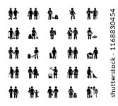 helping people glyph icons | Shutterstock .eps vector #1168830454