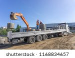 delivery and unloading of... | Shutterstock . vector #1168834657