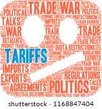 tariffs word cloud on a white...   Shutterstock .eps vector #1168847404