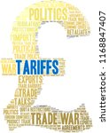 tariffs word cloud on a white...   Shutterstock .eps vector #1168847407