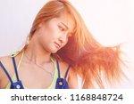 closeup portrait of female...   Shutterstock . vector #1168848724