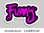 funny sticker | Shutterstock .eps vector #116885134