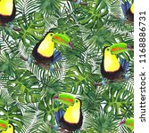 watercolor pattern of tropical... | Shutterstock . vector #1168886731
