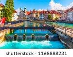 scenic summer aerial panorama... | Shutterstock . vector #1168888231