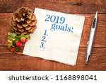 2019 year goals list on a...   Shutterstock . vector #1168898041
