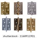 door hinge bronze on isolated... | Shutterstock . vector #1168911901