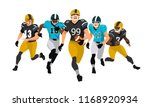 american football team players... | Shutterstock .eps vector #1168920934