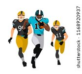 american football players in... | Shutterstock .eps vector #1168920937