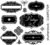 fancy vintage frames and... | Shutterstock .eps vector #116892709