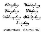 big calligraphic set days of... | Shutterstock .eps vector #1168938787