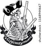 skeleton highwayman with pistols | Shutterstock .eps vector #1168944667