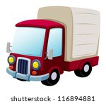 illustration of cartoon truck.Vector - stock vector