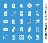 note icon. collection of 25... | Shutterstock .eps vector #1168953814