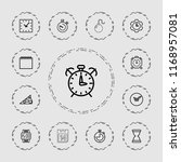 time icon. collection of 13... | Shutterstock .eps vector #1168957081