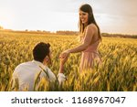 will you marry me  men making...   Shutterstock . vector #1168967047