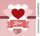 love cute emblem | Shutterstock .eps vector #1168968964