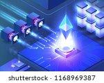 smart ethereum mining.... | Shutterstock .eps vector #1168969387