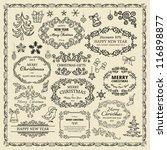 set of christmas design elements   Shutterstock .eps vector #116898877