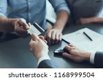 client give credit card to auto ... | Shutterstock . vector #1168999504
