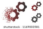 gears icon in dissolved ...   Shutterstock .eps vector #1169003581