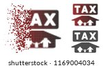 family tax pressure icon in... | Shutterstock .eps vector #1169004034