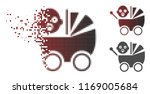 baby carriage icon in dissolved ... | Shutterstock .eps vector #1169005684