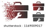 toolbox icon in sparkle  dotted ... | Shutterstock .eps vector #1169009017