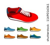 set of colored sneakers | Shutterstock .eps vector #1169016361
