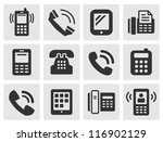 black phone icons | Shutterstock . vector #116902129