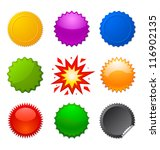 starburst seals | Shutterstock . vector #116902135