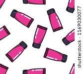 lip gloss seamless doodle... | Shutterstock .eps vector #1169030077
