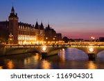 Paris By Night  Seine River...