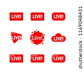 sets of red live sign icon... | Shutterstock .eps vector #1169048431