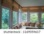 brown roman blind shade curtain ... | Shutterstock . vector #1169054617