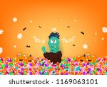 trick or treat  halloween day ... | Shutterstock .eps vector #1169063101
