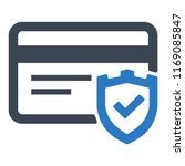 secure payment icon | Shutterstock .eps vector #1169085847
