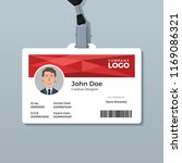 red geometric id card template | Shutterstock .eps vector #1169086321