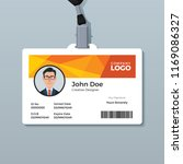 orange polygon id card template | Shutterstock .eps vector #1169086327