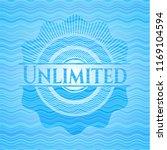 unlimited water wave emblem... | Shutterstock .eps vector #1169104594