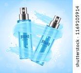 cosmetic ads design. spray...   Shutterstock .eps vector #1169105914