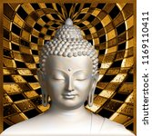 buddha divine wallpaper for... | Shutterstock . vector #1169110411