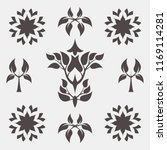 set of abstract foliate signs.... | Shutterstock .eps vector #1169114281