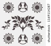 set of abstract foliate signs.... | Shutterstock .eps vector #1169114287