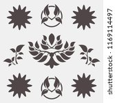 set of abstract foliate signs.... | Shutterstock .eps vector #1169114497