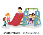 illustration of stickman kids... | Shutterstock .eps vector #1169120011